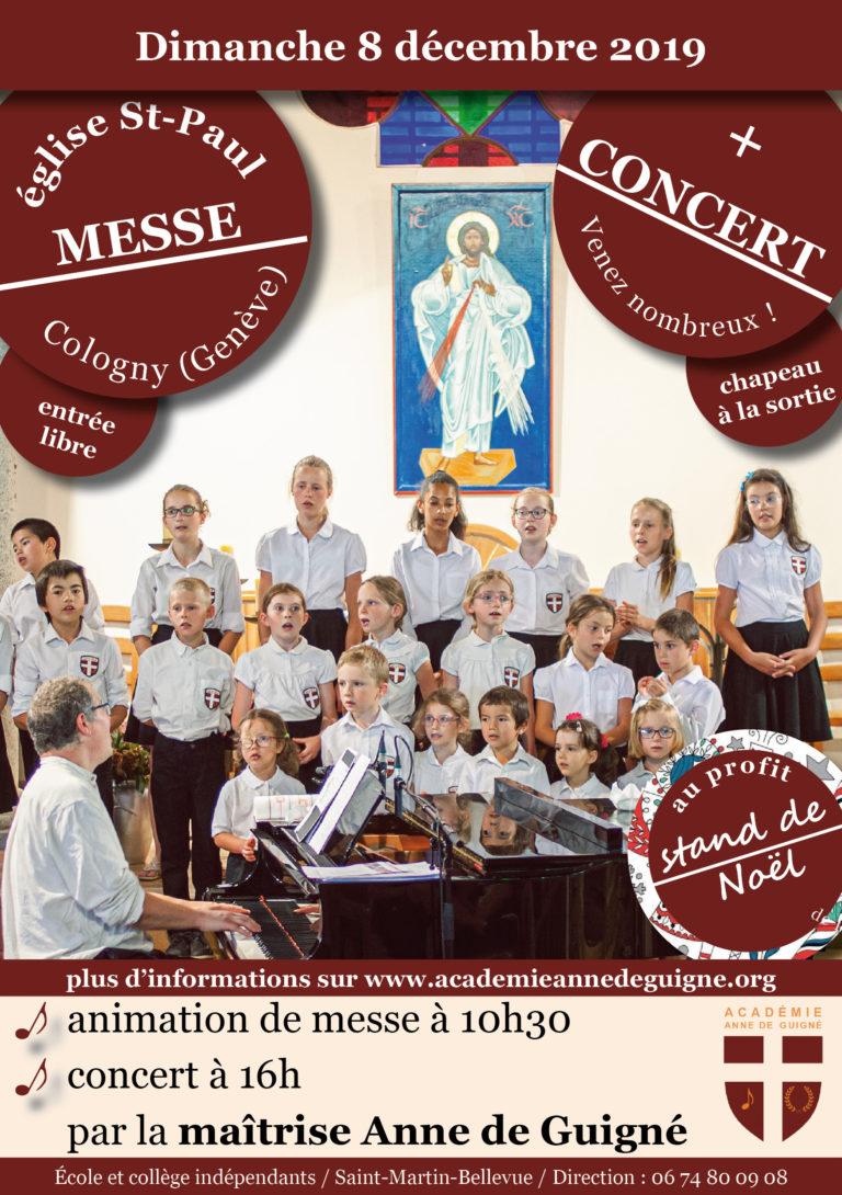 Concert du 8 décembre à Genève