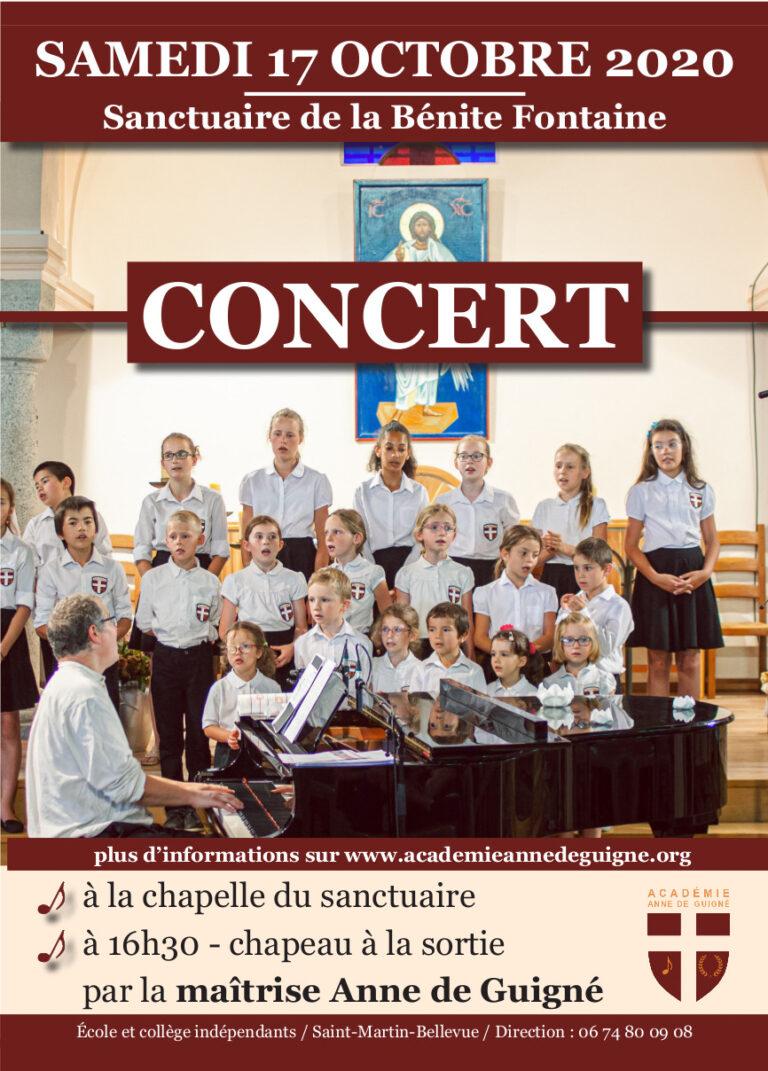 Prochains concerts : 17 et 18 octobre à 16h30